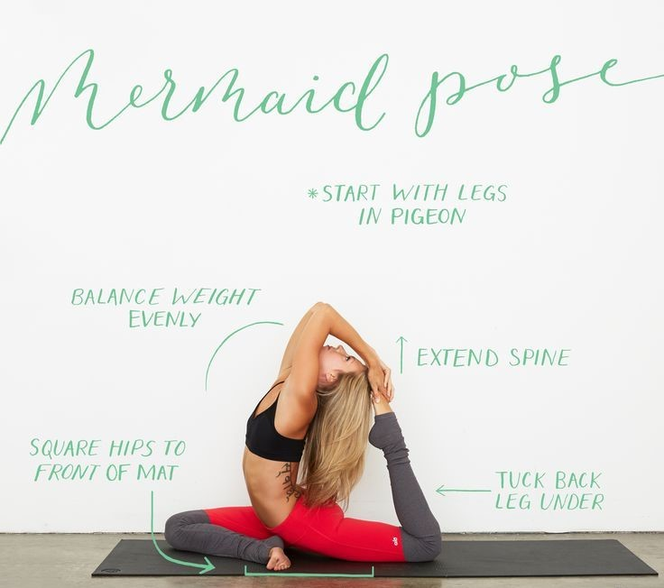 How To Perform Mermaid Pose